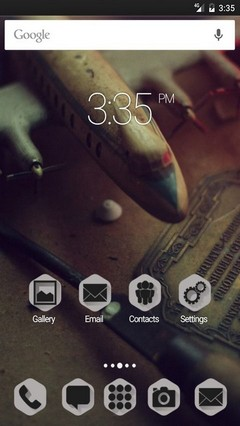 Plane old photo Apex Launcher Theme