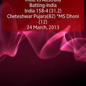 Live Cricket Score + Widget