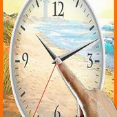 Beach Clock Tap Live Wallpaper
