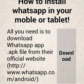 Install WhatsApp Mobile