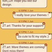 CuteLion Theme GO SMS