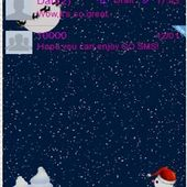 GO SMS Winters Snow Theme