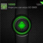 Green Glow Go SMS Theme