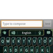 GO Keyboard Green Future theme