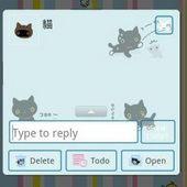 Go SMS Cat Theme