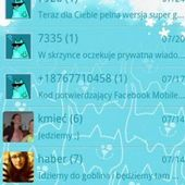 Go SMS Pro Blue Cat Theme