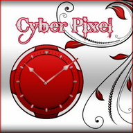 Red and White Clock