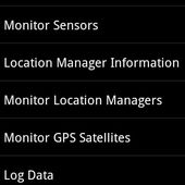 Sensor and GPS Monitor