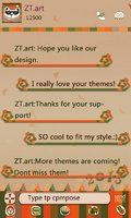 GO SMS Fatbear Theme