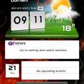 lg optimus widget clock weather
