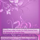 Pastel Purple Go SMS Pro Theme