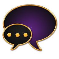 GO SMS Golden Vintage Purple