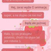 GO SMS PRO Sweet Strawberry Theme