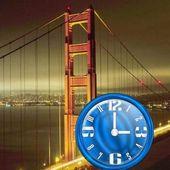 Nice Blue Clock Widget