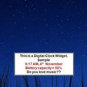 Musical Clock Widget