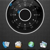 Blue dark clock