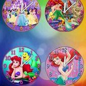 Princesses clock set