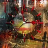 Apocalypse 3D Clock Live Wallpaper