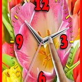 Choose Your Flower Clock and Alarm Live Wallpaper