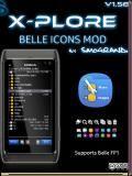 X-plore v1.58 Belle Icons Mod S60v3 S60v5 Symbian3 Anna Belle FP1