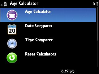 Age Calculator Symbian App - Download for free on PHONEKY