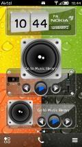 Transparent 3D Digital Flip-Clock & Music Player Widgets