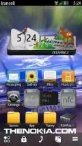 Nature Digital Clock 3d Widget