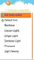 FLIPFONT WITH SELECTED FONTS