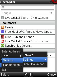 Opera Mini Handler Setting For Airtel