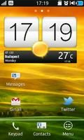 Uhr Widget Htc One X Stil