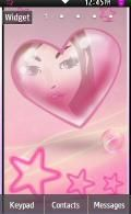 Pink Heart Theme Samsung Star 2