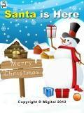 산타는 여기에있다.