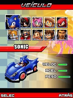 Sonic Sega All Star's Racing 240x320 Java Game - Download for free