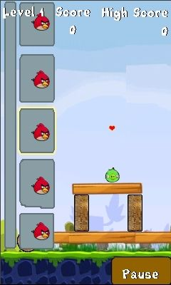 Angrybirds s5230 kp500 v04 240x400 java game - screenshots
