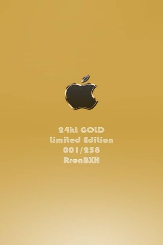 24 Karat Gold Apple