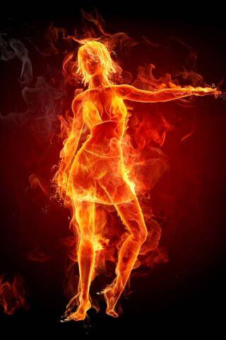 Gorąca dziewczyna w ogniu