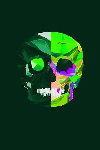 Green Skull Purple