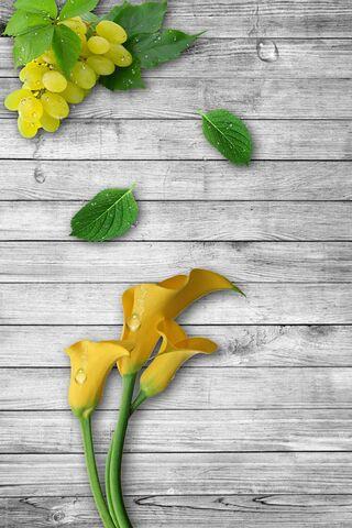 Flowers-Grapes-Drops