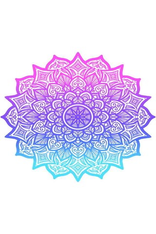 Pink To Blue Mandala