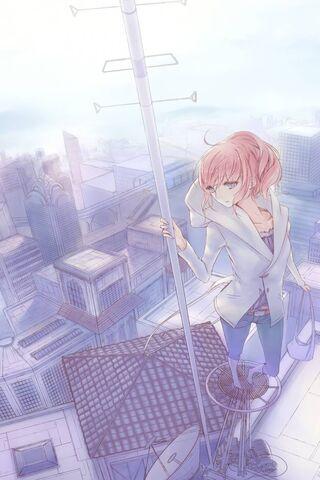 लड़की ब्लू सिटी