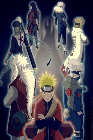 Naruto y maestros
