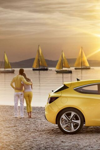 Luv Yellow Car