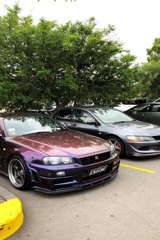 Purple Skyline R34