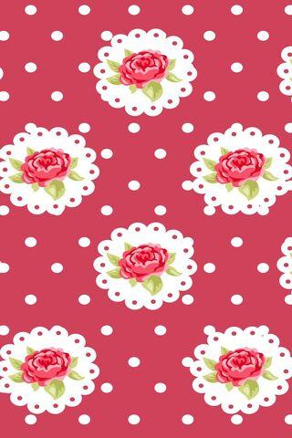 Polka Dot and Roses