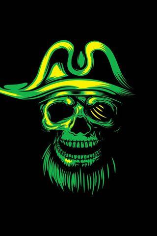 Green Pirate Skull