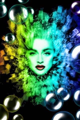 Madonna dan Bubbles