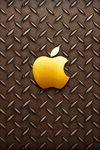 Apple लोगो गोल्डन