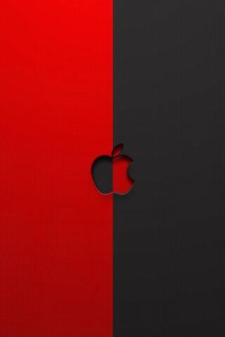 लाल काला सेब