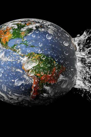 Globe terrestre Splash