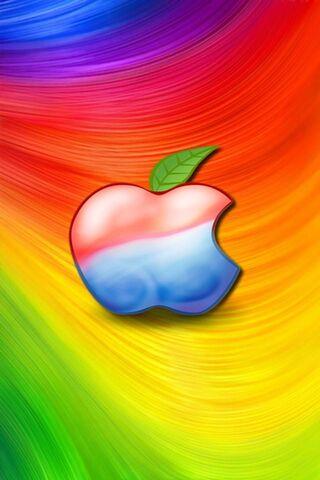 इंद्रधनुष में सेब